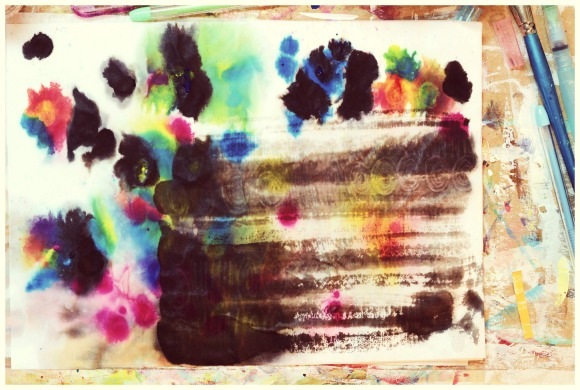 ink splashed paper