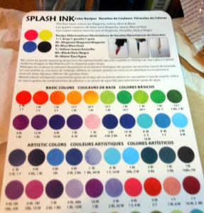 niji spet splash ink color chart