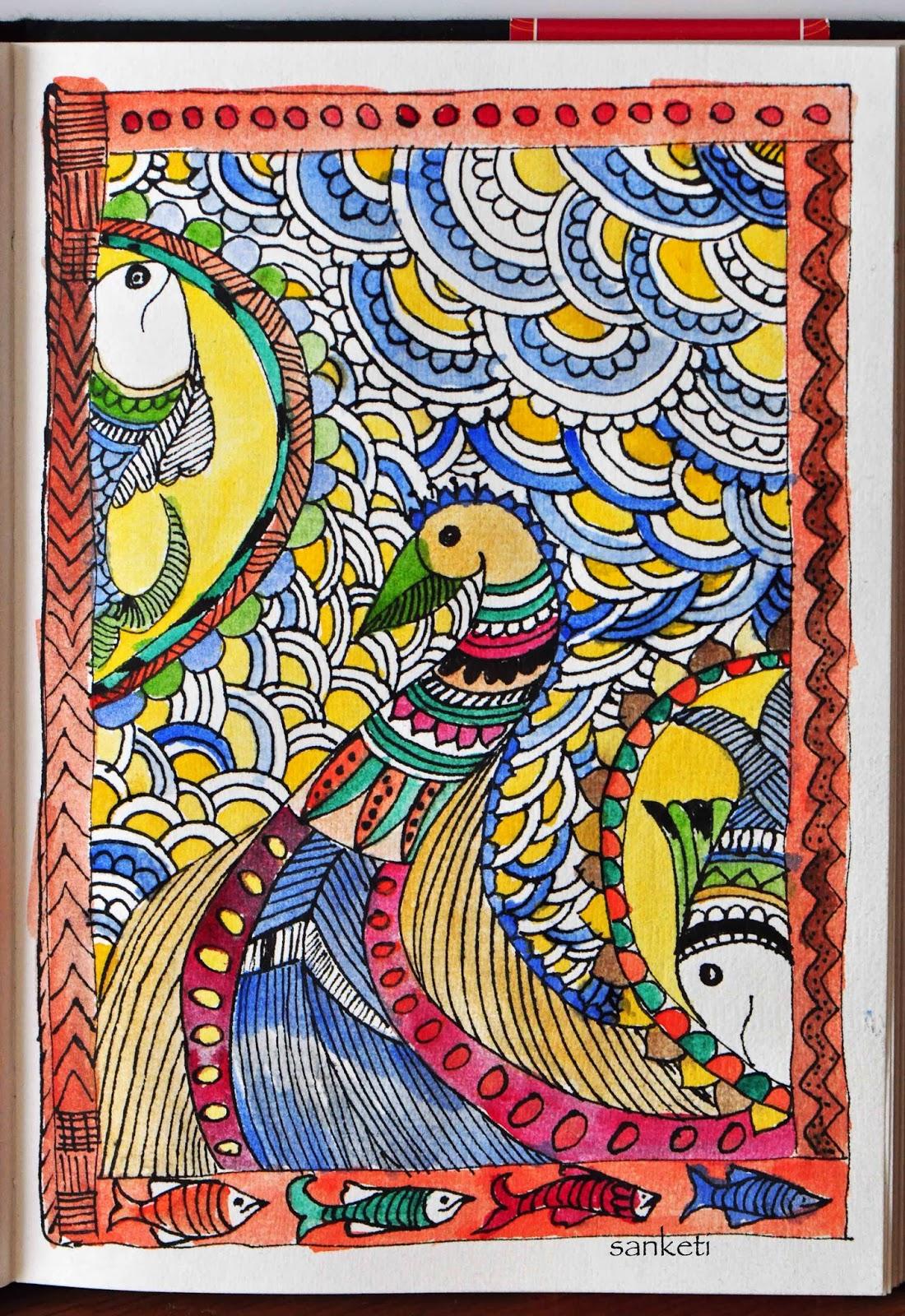 Madhubani Indian Folk Art Niji Creative Collective