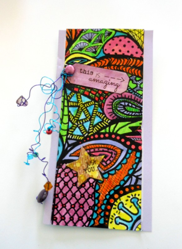 Permawriter and Splash Inks are perfect for Zentangle Collage Fun!