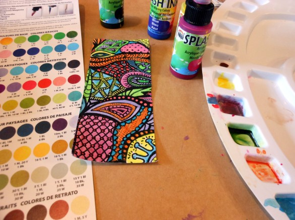 Mixing Splash Inks is easy and fast.  Just follow the recipe cards.
